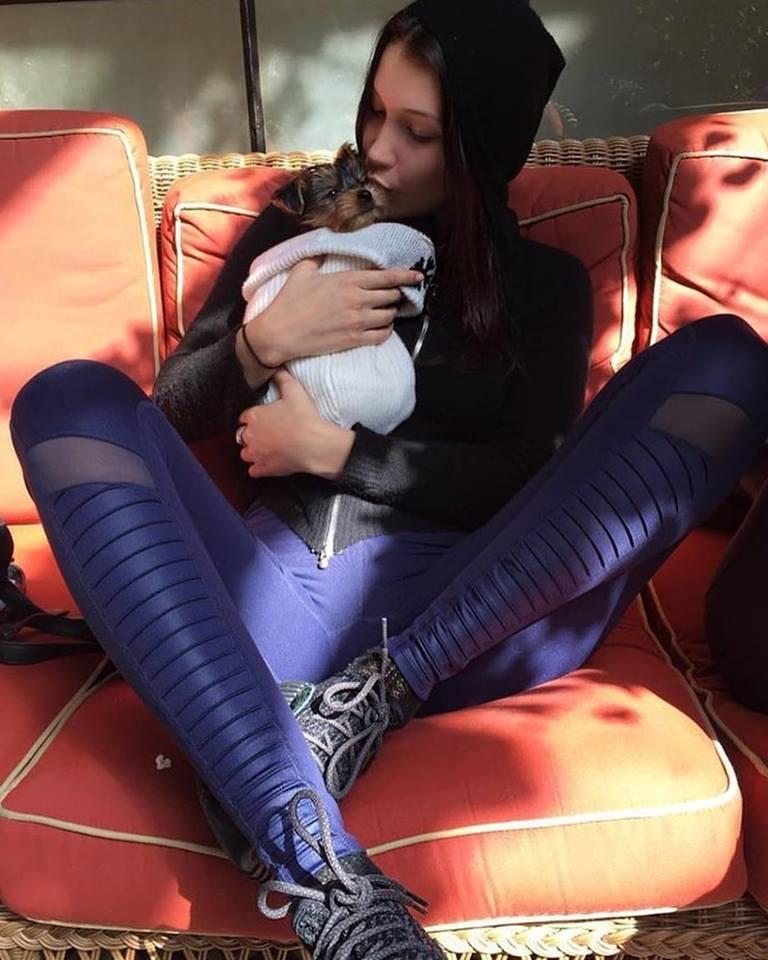 Bella Hadid_Moto legging